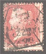Great Britain Scott 33 Used Plate 191 - KD