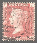 Great Britain Scott 33 Used Plate 91 - CE