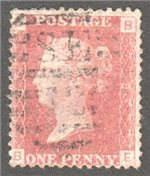 Great Britain Scott 33 Used Plate 91 - BE