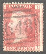 Great Britain Scott 33 Used Plate 97 - TA
