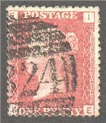 Great Britain Scott 33 Used Plate 107 - IE