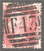 Great Britain Scott 33 Used Plate 141 - JC
