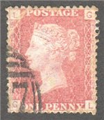 Great Britain Scott 33 Used Plate 146 - GL