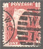 Great Britain Scott 33 Used Plate 174 - BJ