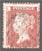 Great Britain Scott 33 Used Plate 100 - LH