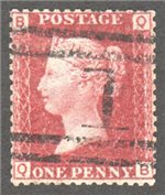 Great Britain Scott 33 Used Plate 112 - QB