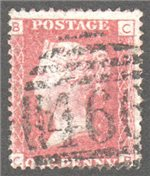 Great Britain Scott 33 Used Plate 112 - CB