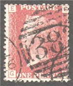 Great Britain Scott 33 Used Plate 113 - GE