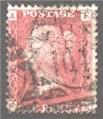 Great Britain Scott 33 Used Plate 155 - FA