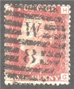 Great Britain Scott 33 Used Plate 189 - HG