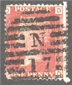 Great Britain Scott 33 Used Plate 217 - OD