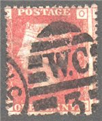 Great Britain Scott 33 Used Plate 220 - OC