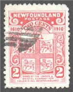 Newfoundland Scott 88 Used VF (P12x11.8)