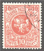 Lithuania Scott 40 Used
