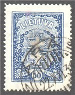 Lithuania Scott 239 Used