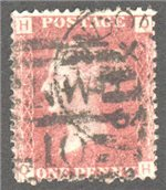Great Britain Scott 33 Used Plate 91 - QH