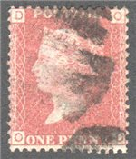 Great Britain Scott 33 Used Plate 174 - OD