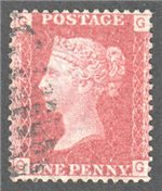 Great Britain Scott 33 Used Plate 74 - GG