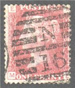 Great Britain Scott 33 Used Plate 161 - ME