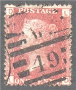 Great Britain Scott 33 Used Plate 217 - LD