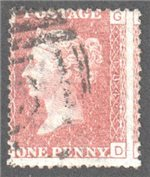 Great Britain Scott 33 Used Plate 184 - GD