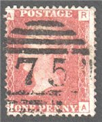 Great Britain Scott 33 Used Plate 90 - RA (2)