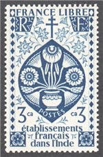 French India Scott 144 Mint