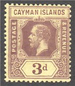 Cayman Islands Scott 37 Mint
