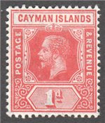 Cayman Islands Scott 34 Mint