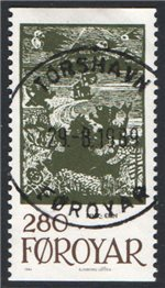Faroe Islands Scott 119 Used