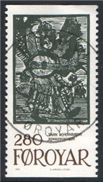 Faroe Islands Scott 116 Used