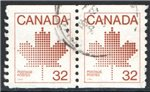 Canada Scott 951 Used Pair