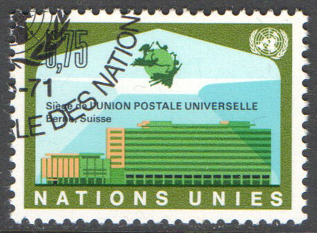 United Nations Geneva Scott 18 Used