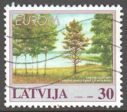 Latvia Scott 484 Used