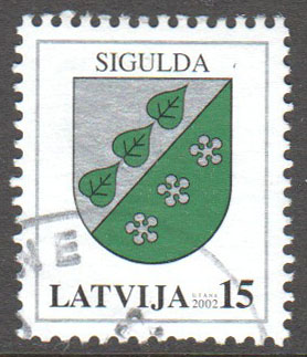 Latvia Scott 545 Used