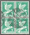 Switzerland Scott 210 Used Blk of 4
