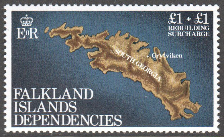 Falkland Islands Scott 1LB1 MNH