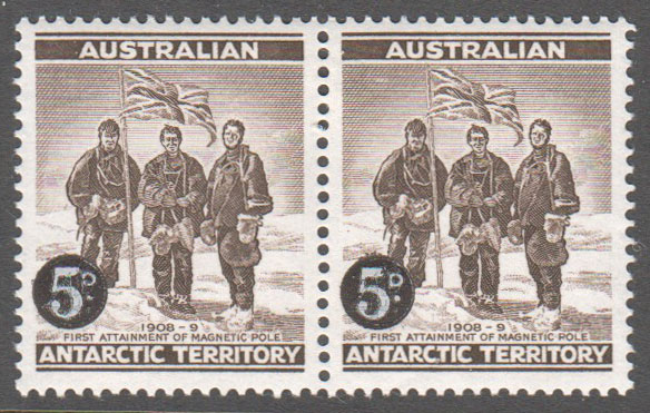 Australian Antarctic Territory Scott L1 Mint Pair