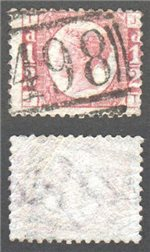 Great Britain Scott 58 Used Plate 5 - JT (P)