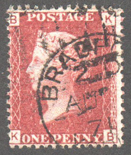 Great Britain Scott 33 Used Plate 127 - KB - Click Image to Close